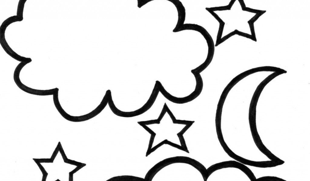 Moon and stars coloring pages printable coloring home for Moon and stars coloring pages