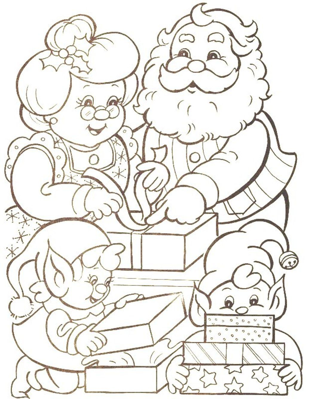santa claus free coloring pages - free coloring pages santa claus coloring home