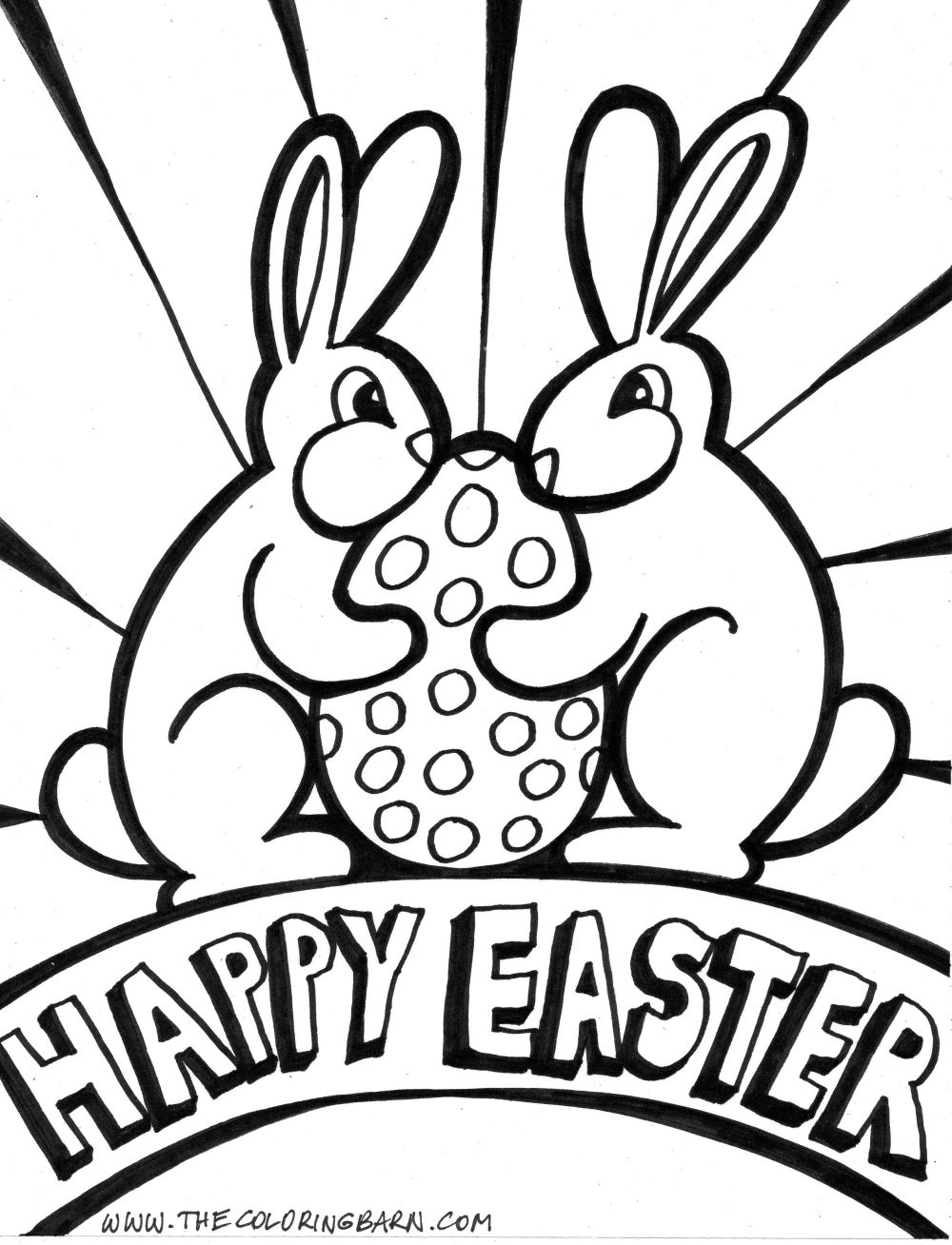 Printable Coloring Pages Bunny Rabbits By Spongebob Easter Page Home