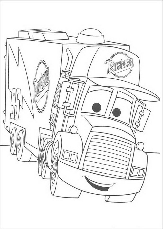 Online Coloring Pages Cars 2 - Coloring