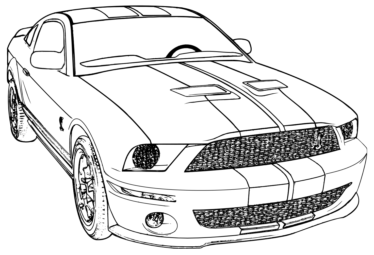 Printable Mustang Car Coloring Pages - High Quality Coloring Pages
