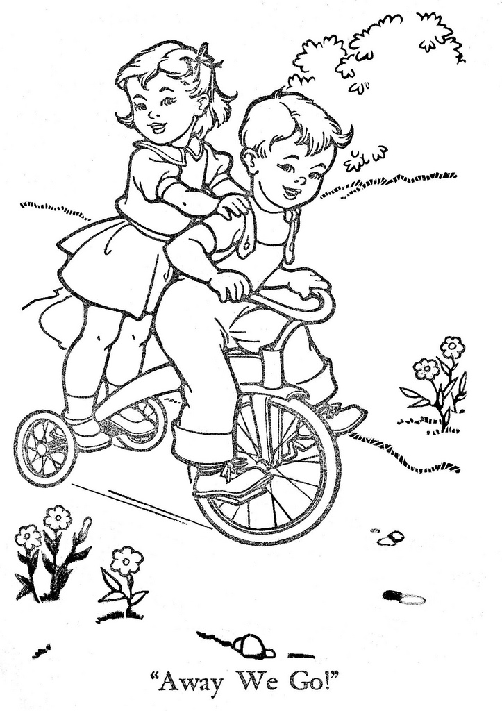 Vintage Coloring Book Pages Coloring Home Vintage Coloring Page