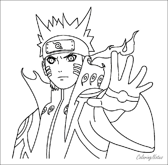Naruto Coloring Pages Free Printable | Sasuke, Kakashi ...