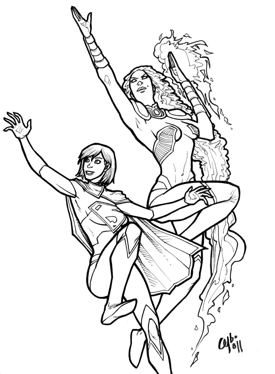 It's just an image of Declarative Super Girl Coloring Pages