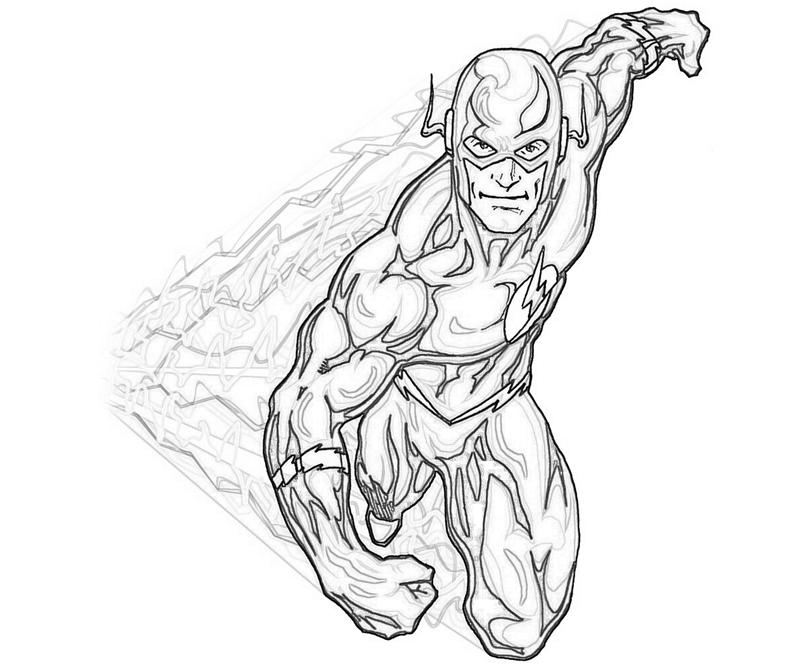 Kid Flash Coloring Pages - Coloring Home