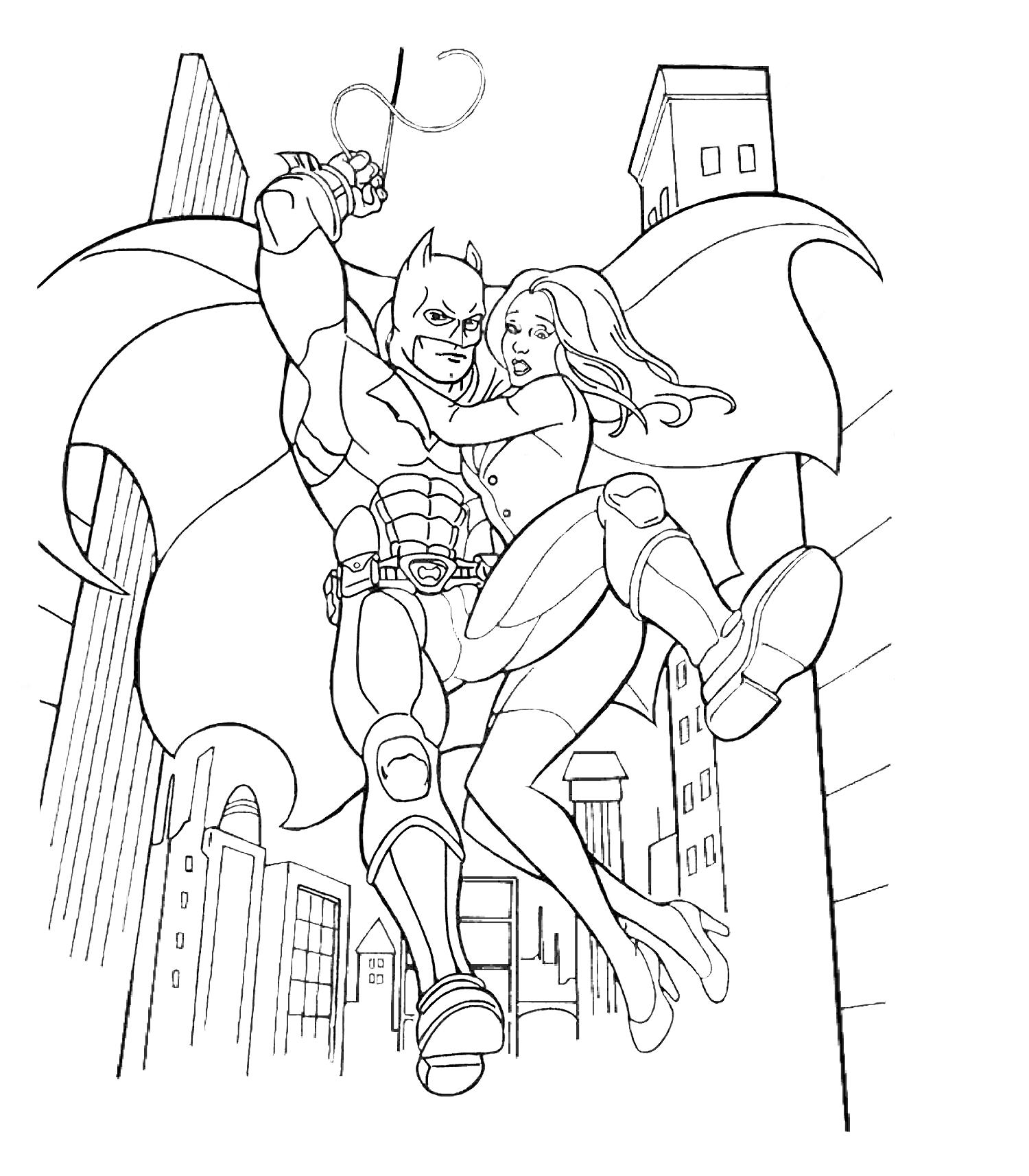 Batman Dark Knight Coloring Pages