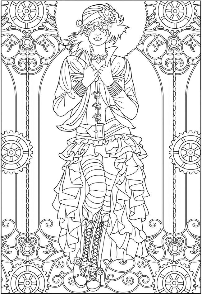 free printable fashion coloring pages - photo#15