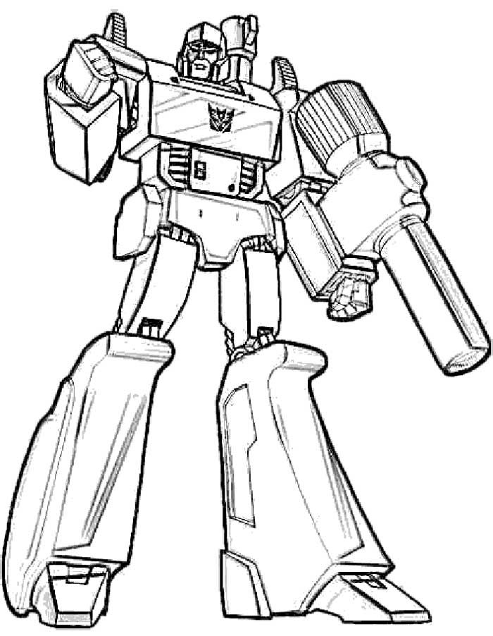 Free coloring pages for boys transformers coloring home for Transformer coloring pages