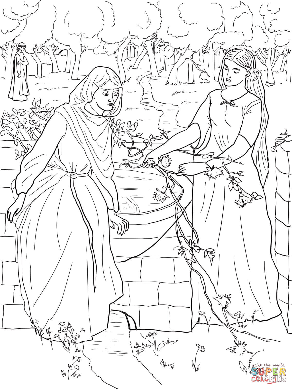 Jacob And Esau Coloring Page Free Printable Pages