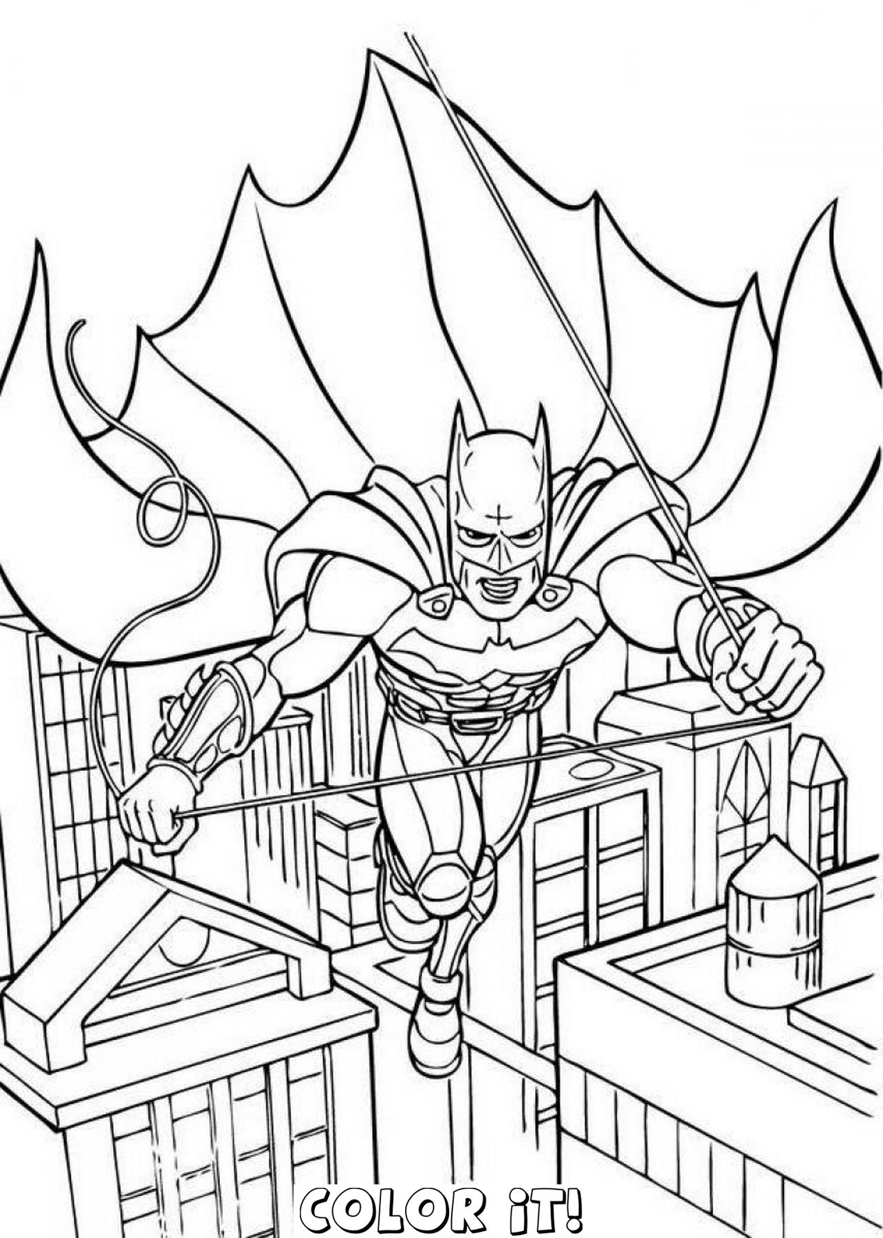 Amazing Of Best Batman Coloring Pages Batman And Robin Co