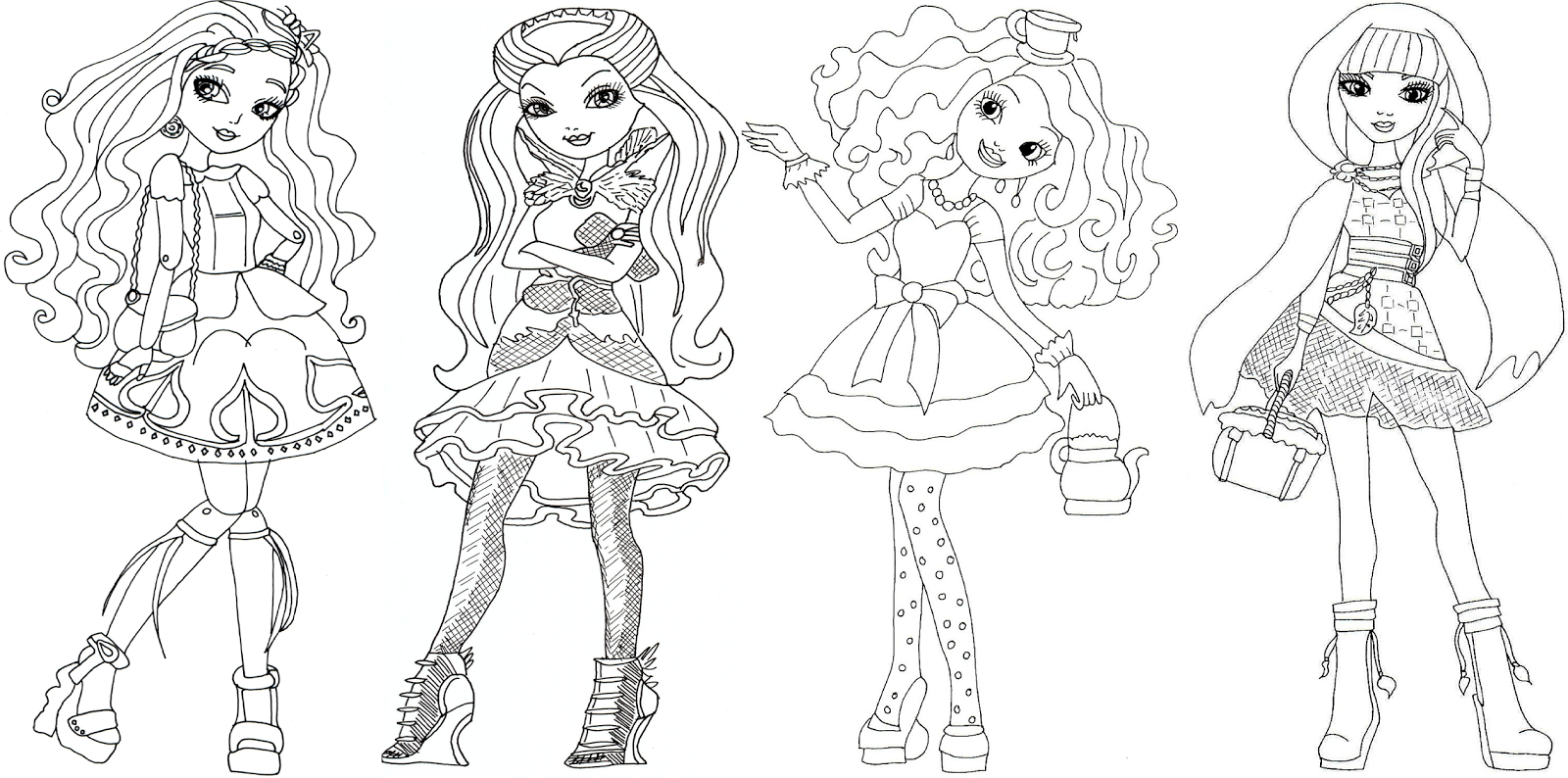Ever After High Cerise Hood coloring page  Free Printable