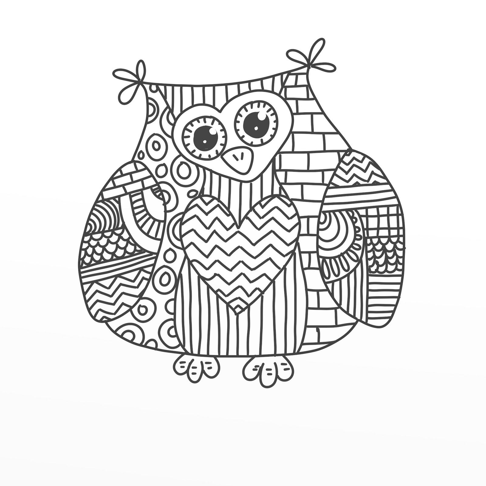 Cool Owl Coloring Pages - Coloring Home