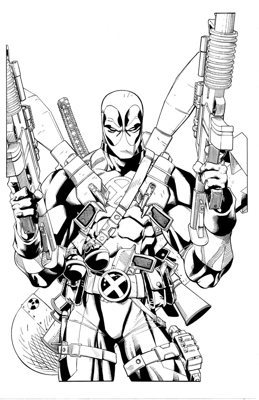 Deadpool Coloring Pages Printable - AZ Coloring Pages