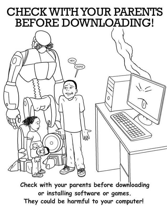 coloring page internet - coloring pages for all ages