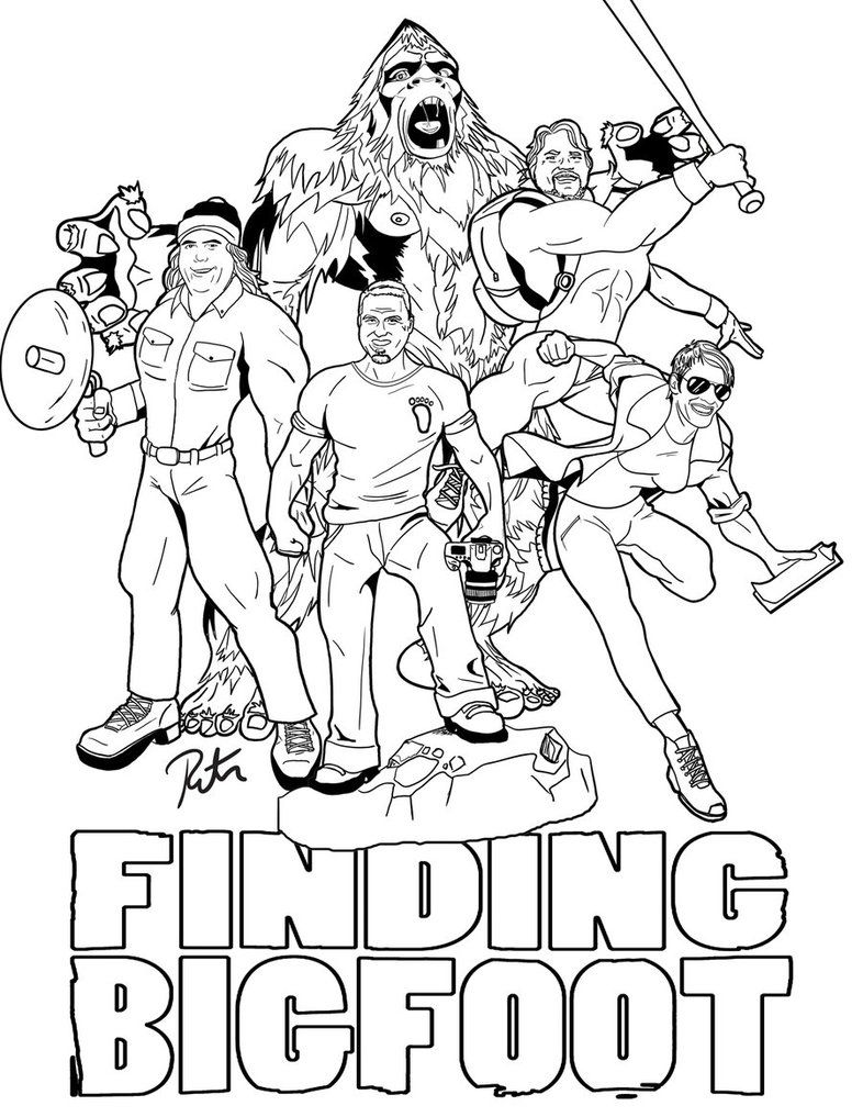 bigfoot printable coloring pages - photo#4
