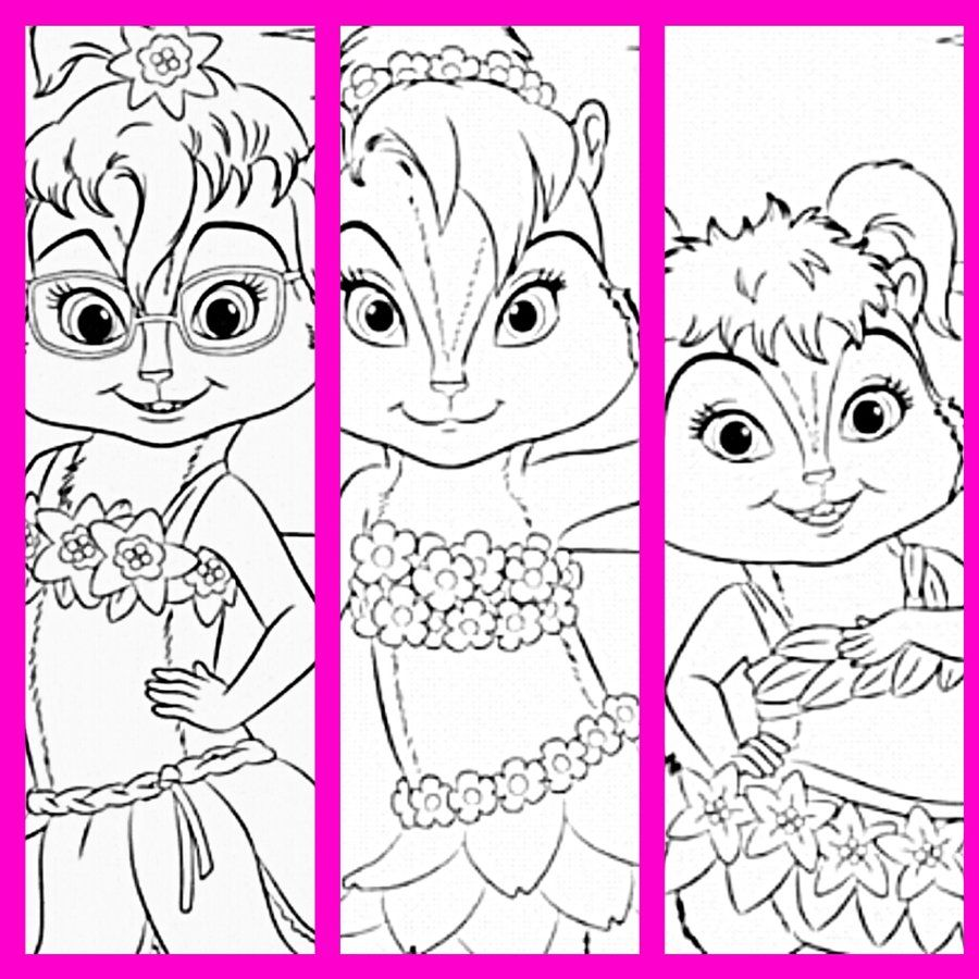 Adult Beauty Alvin And The Chipmunks Coloring Page Images cute alvin and the chipettes coloring pages chipmunks chipwrecked by yanamaisarah4 on deviantart brittany images