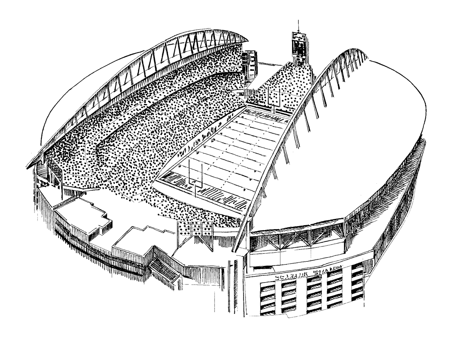Football Field Coloring Sheets - High Quality Coloring Pages