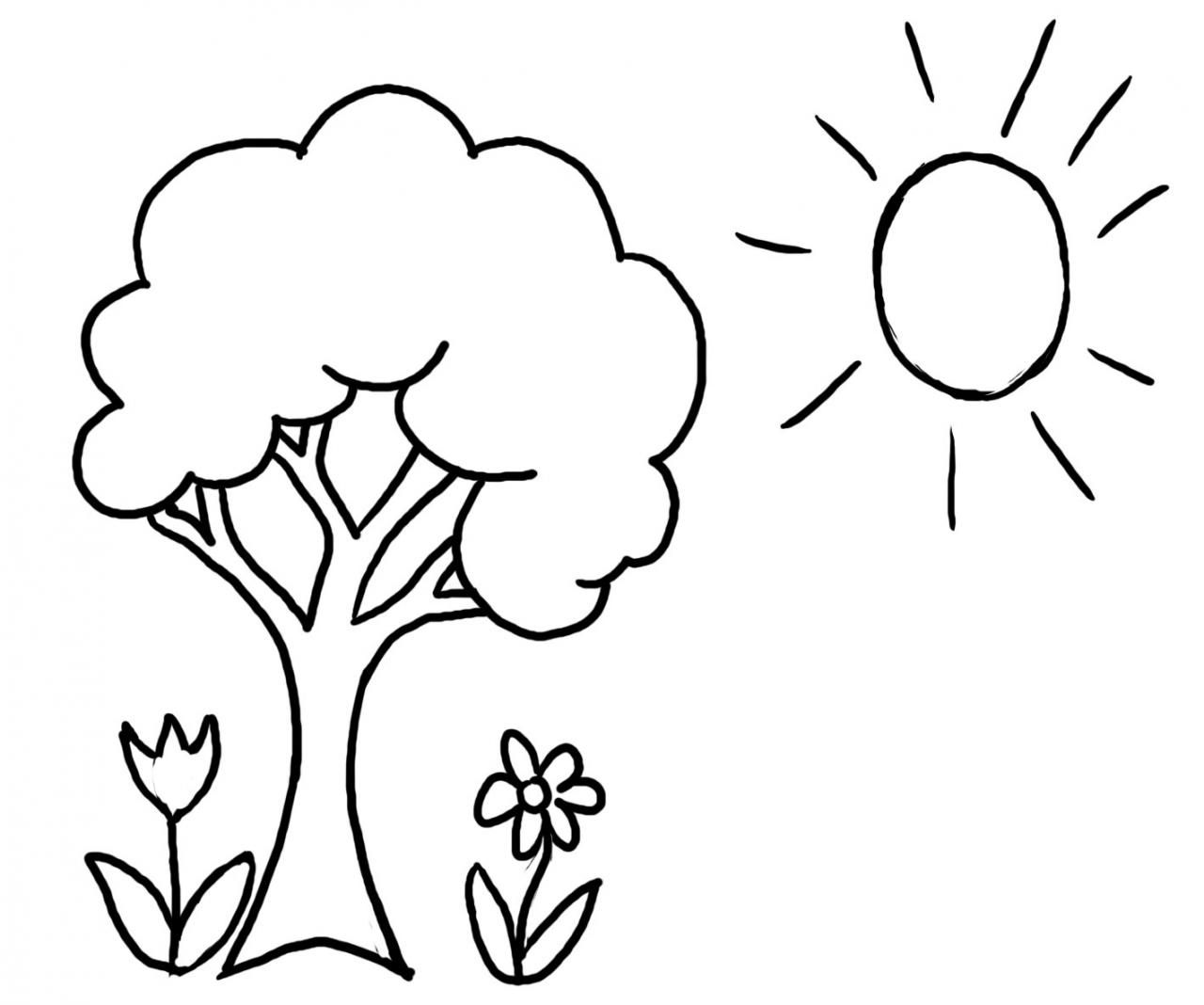 Spring Tree Coloring Pages Printable Coloring Page For Kids | Kids ...