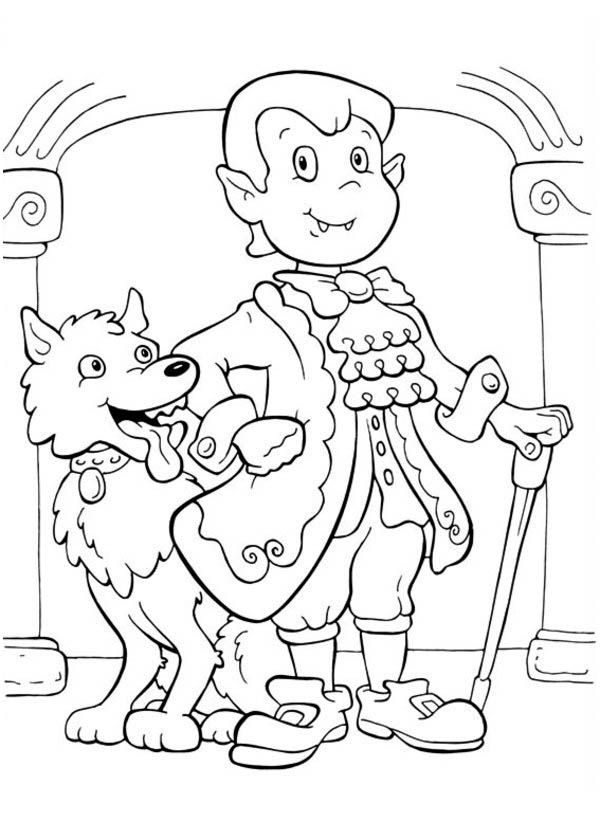 10 pics of cute werewolf coloring pages - halloween werewolf ... - Halloween Werewolf Coloring Pages