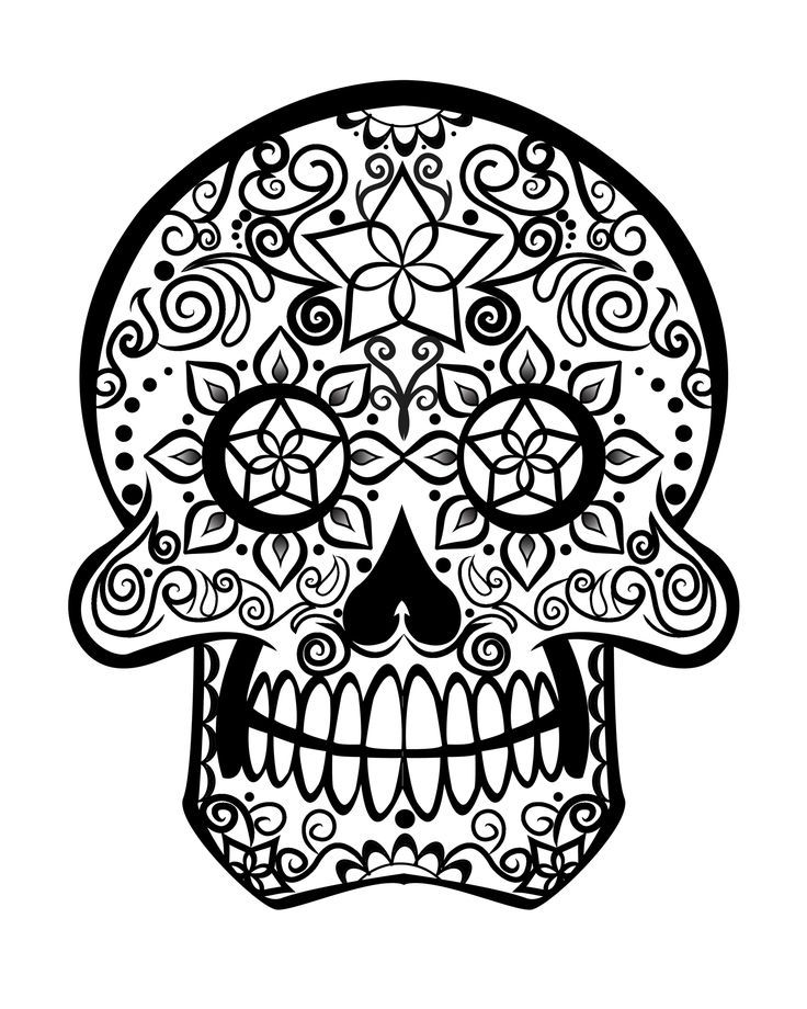 Printable Adult Coloring Pages Sugar Skull  Coloring Home