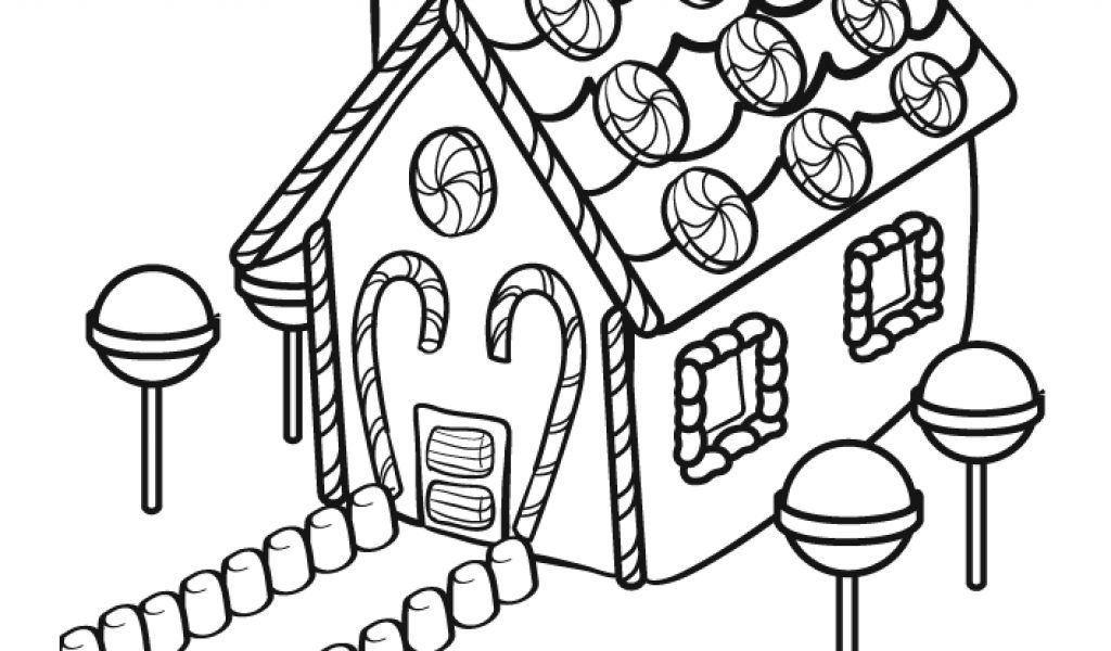 Pin Free Gingerbread House Coloring Sheets Pictures on Pinterest
