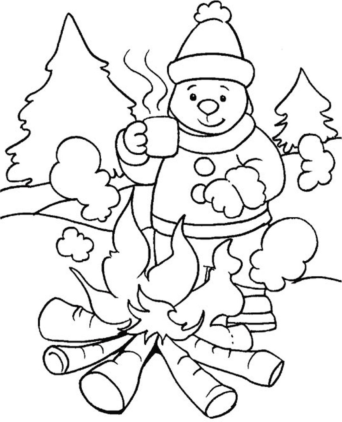 Childrens winter colouring pages - Winter Coloring Pages Uniquecoloringpages