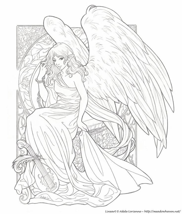 free chldrens angel coloring pages - photo#37