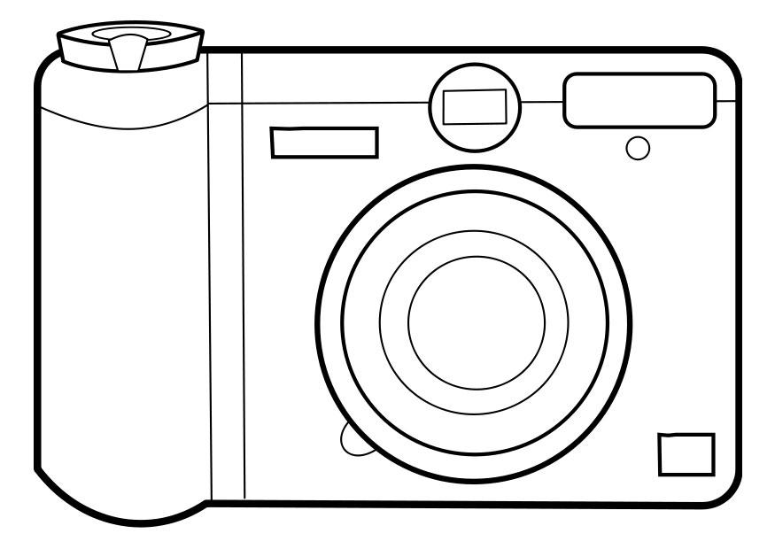 camera coloring pages - photo#11