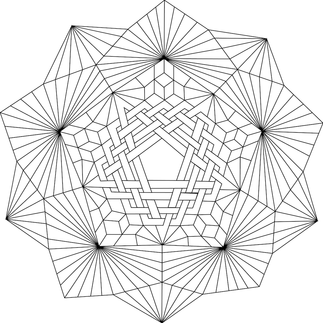 Geometric Coloring Pages Pdf Free Printable : Geometric mandala coloring page az pages
