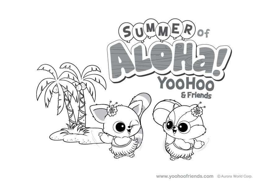 Yoohoo Friends - Coloring Pages for Kids and for Adults