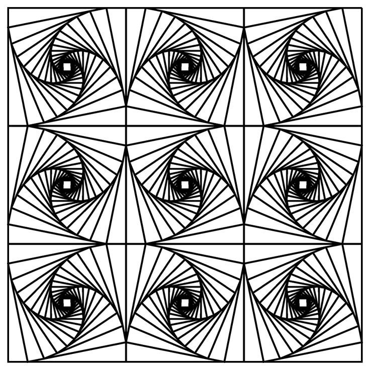 free optical art coloring pages - photo#14