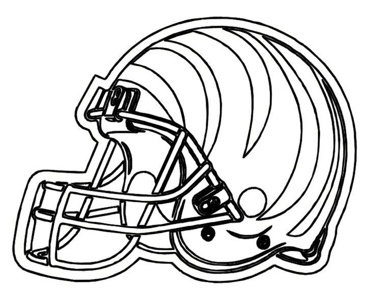 cincinnati bengals helmet coloring page coloring home