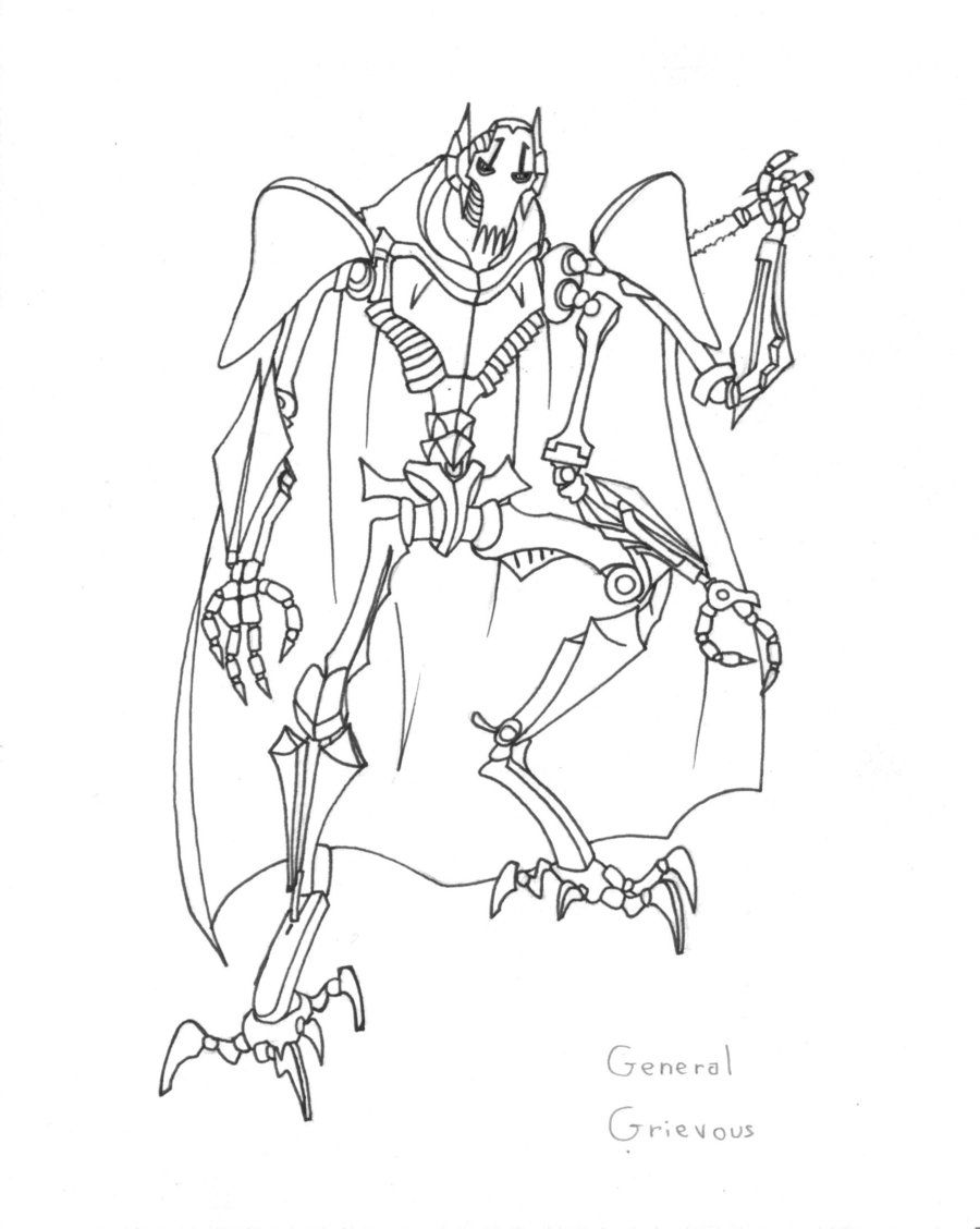 general grievous coloring sheet pages - photo#6