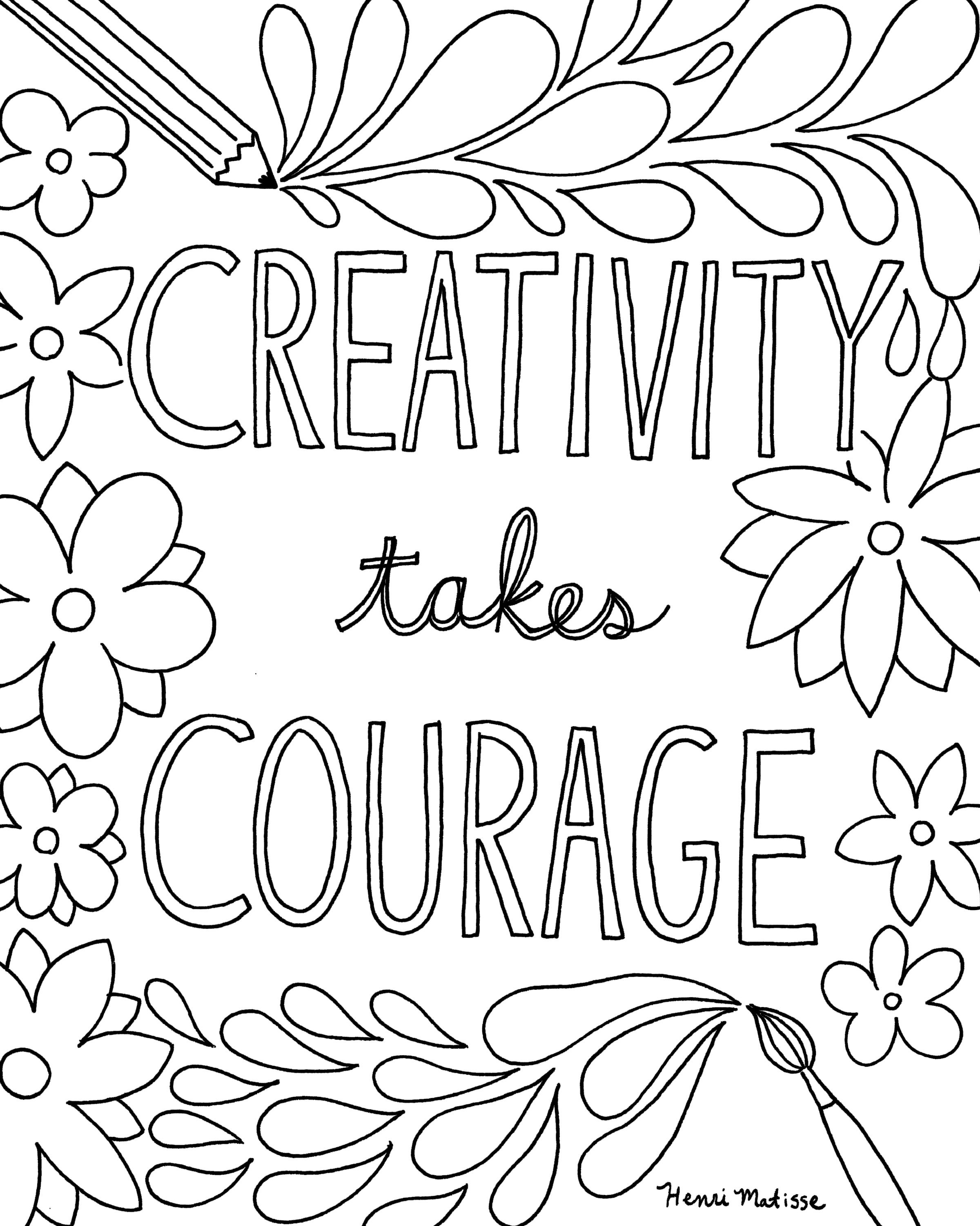 Free Printable Quote Coloring Pages for Grown-Ups | Quote coloring ...
