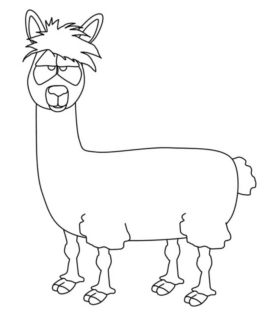 Llamas Coloring Pages Coloring Home