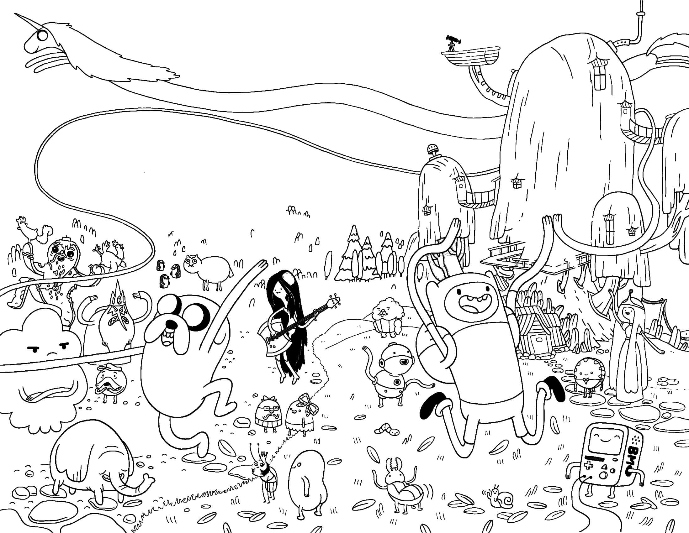 Adventure Time Coloring Pages4 Free Printables Coloring Pages Coloring Home