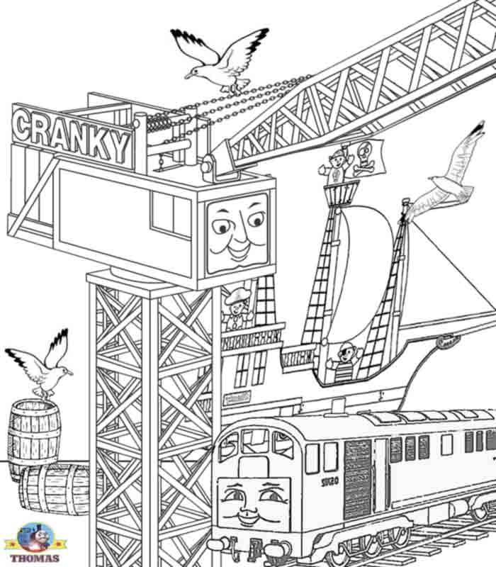 Cranky The Crane Coloring Page