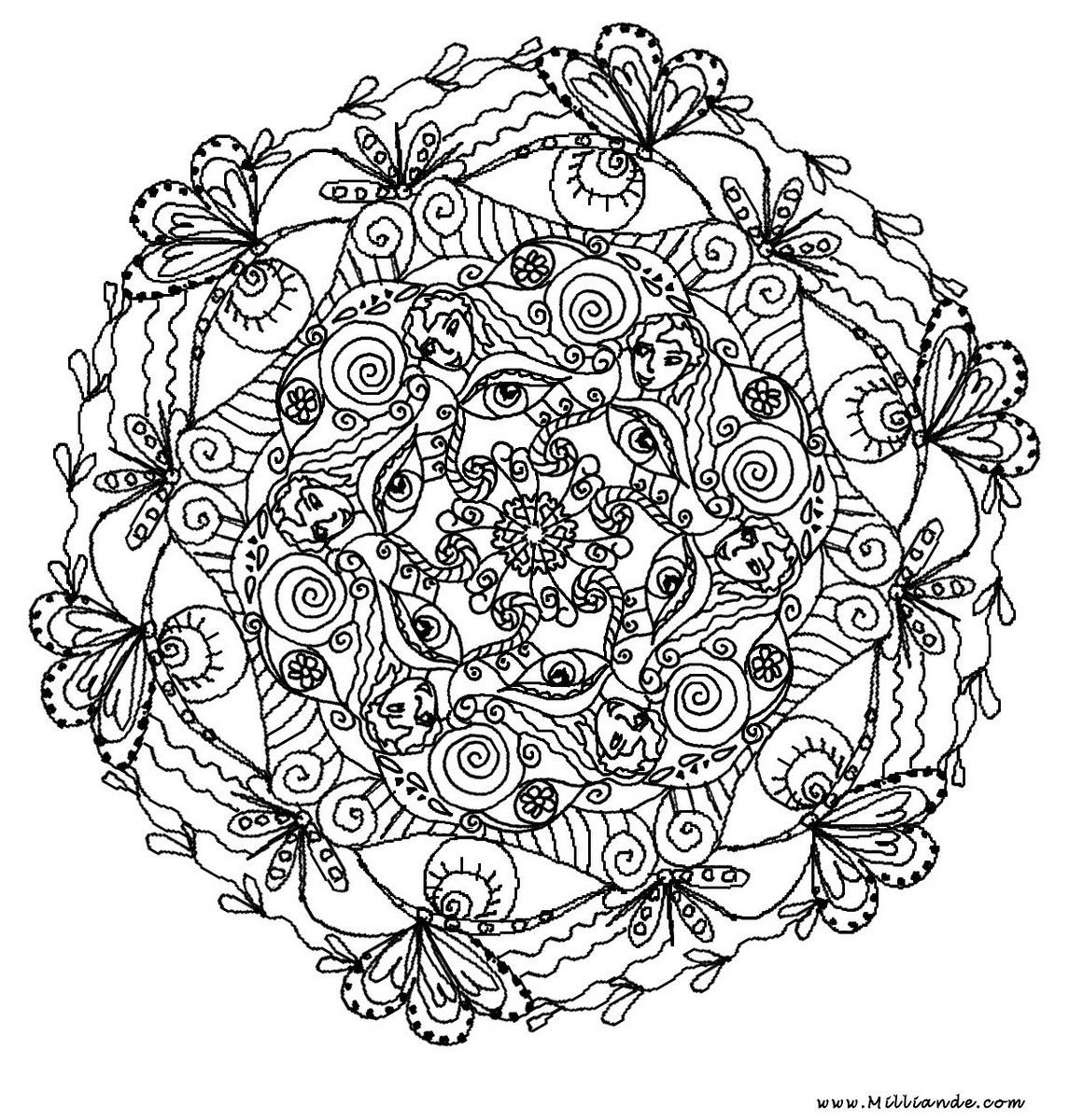 difficult coloring page mandala coloring home