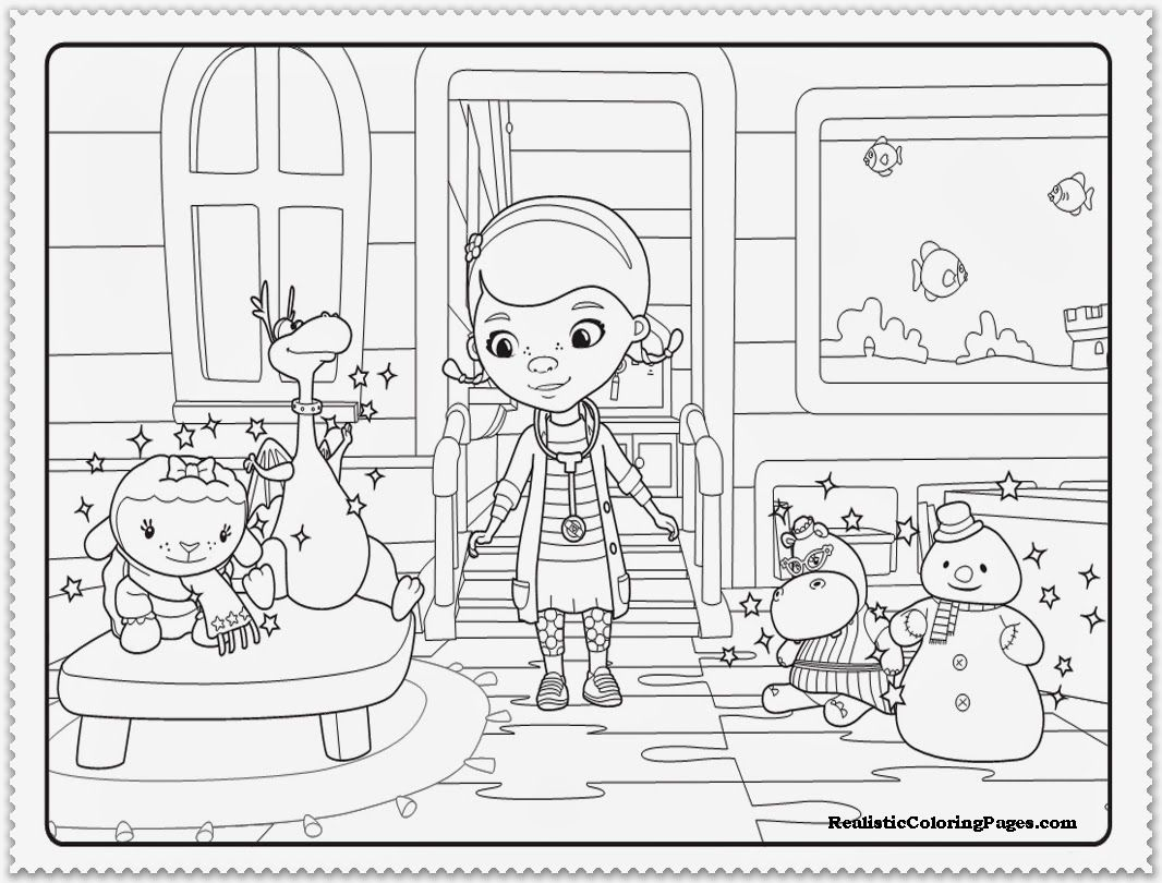 Amazing Of Free Doc Mcstuffins Coloring Pages Free With D 747