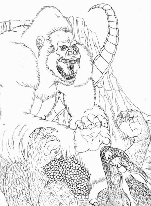 King Kong Coloring Page Coloring Home