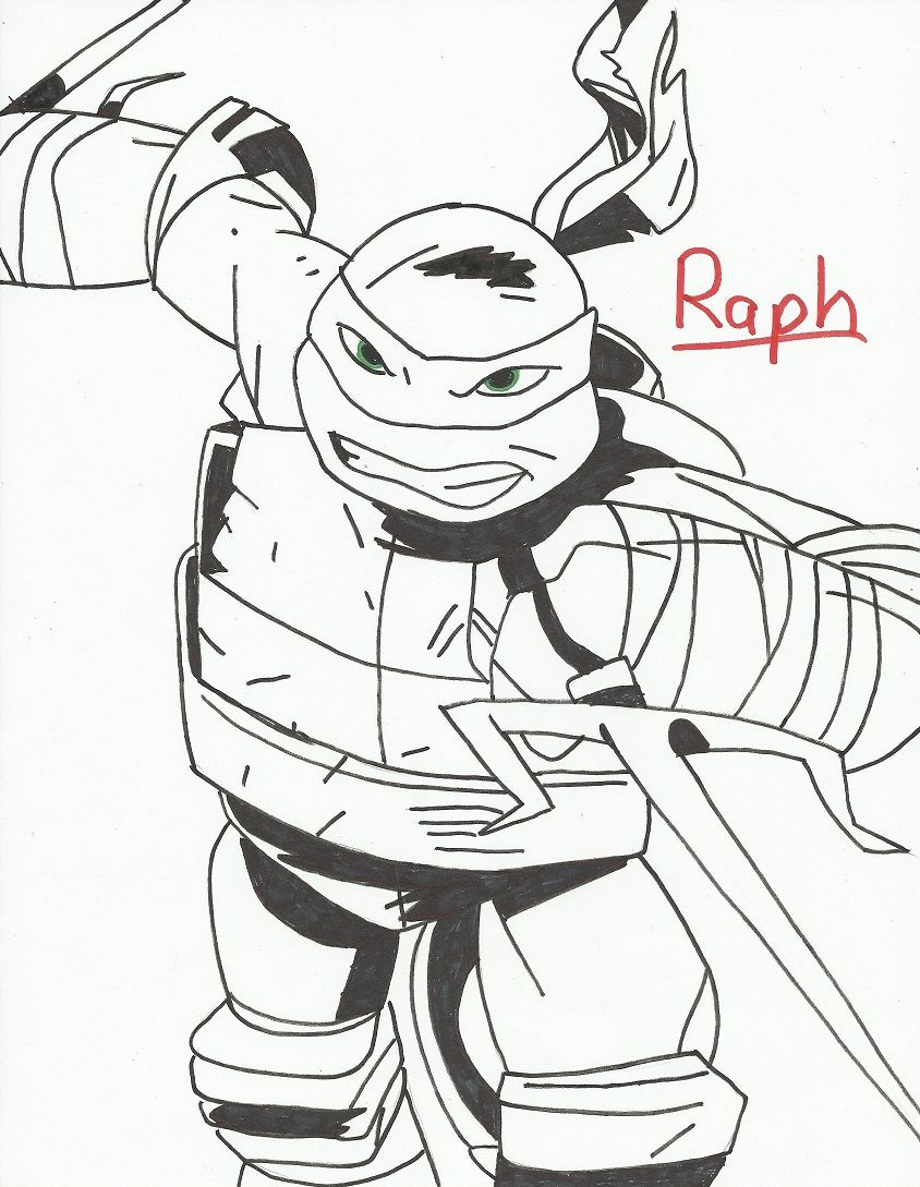Raphael Coloring Page Coloring