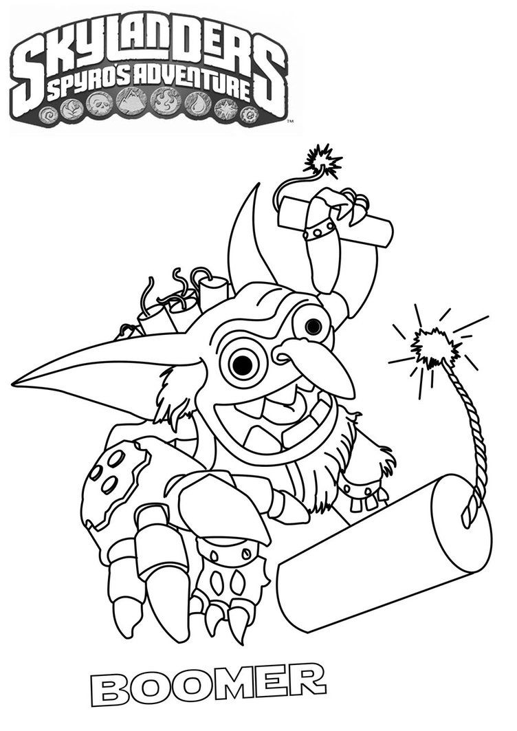 Free coloring pages for skylanders - Skylanders Coloring Pages To Print High Quality Coloring Pages