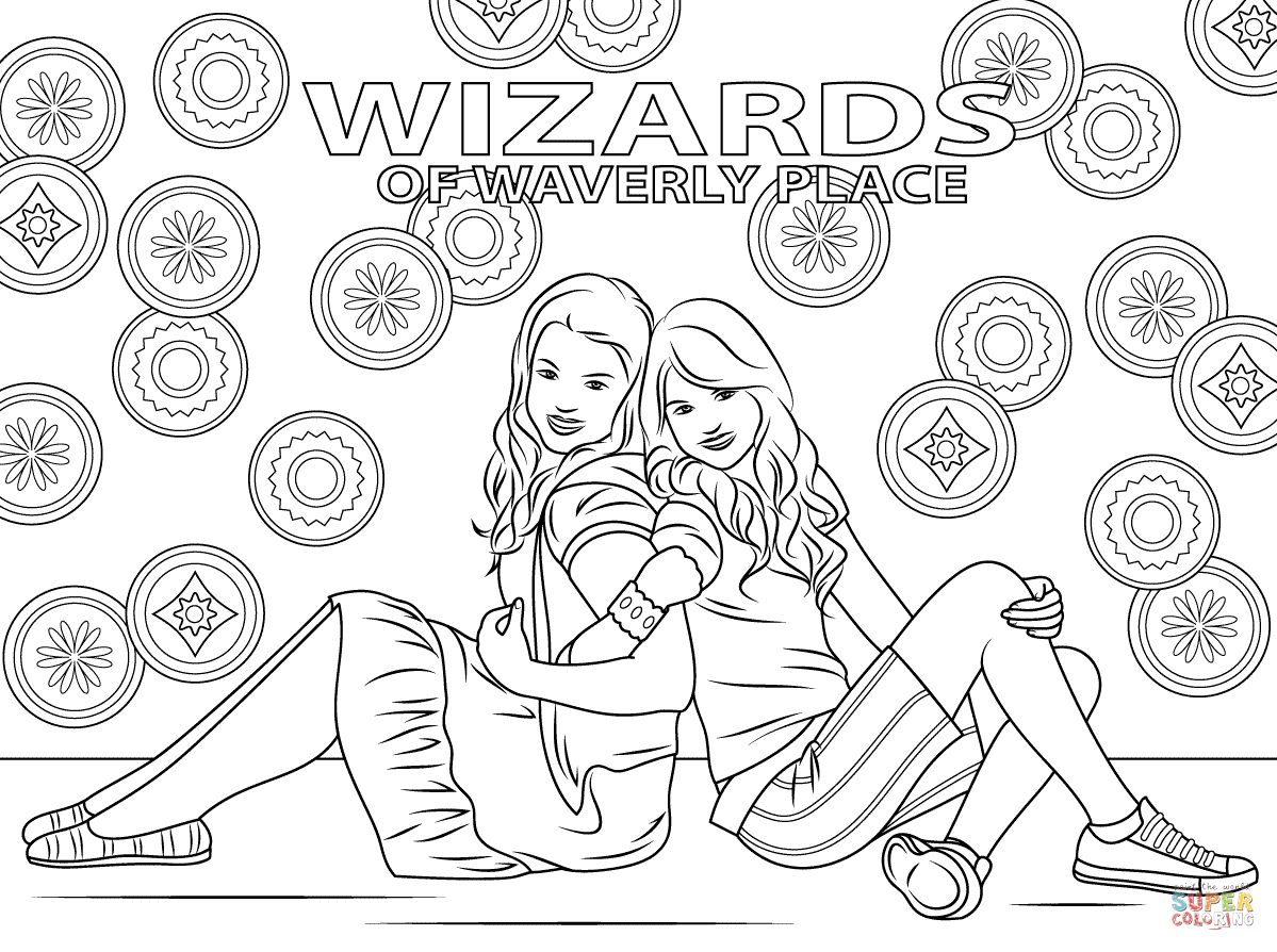 Wizards Of Waverly Place Coloring