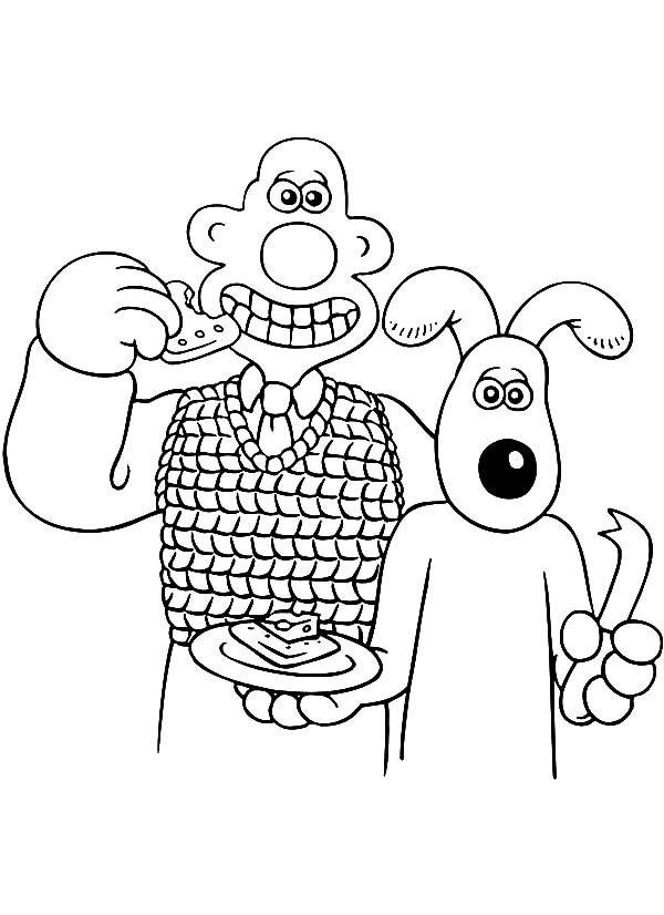 Wallace And Gromit Pictures Az Coloring Pages And The Tr Coloring Page
