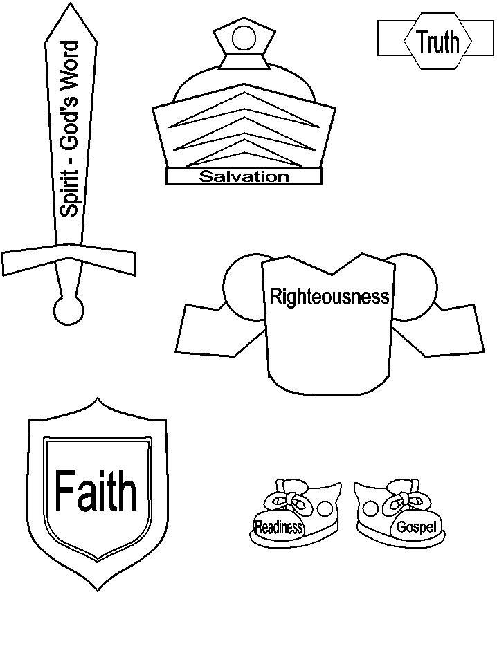 Armor of god coloring pages az coloring pages for God is my shield coloring page