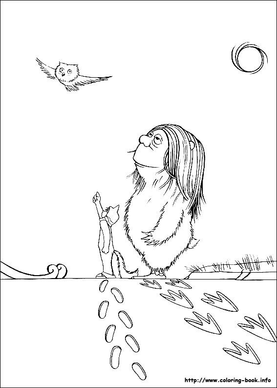 Where the wild things are coloring page