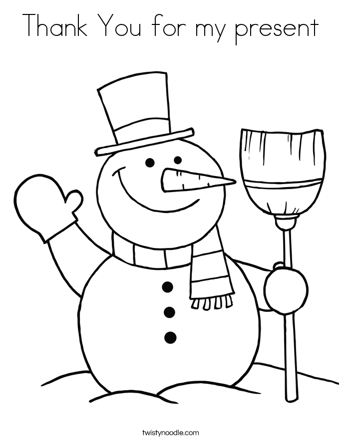 Thank You Coloring Pages Coloring Home
