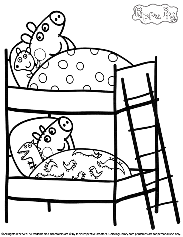 8 Pics of Peppa Pig Coloring Pages Free Printable - Peppa Pig ...