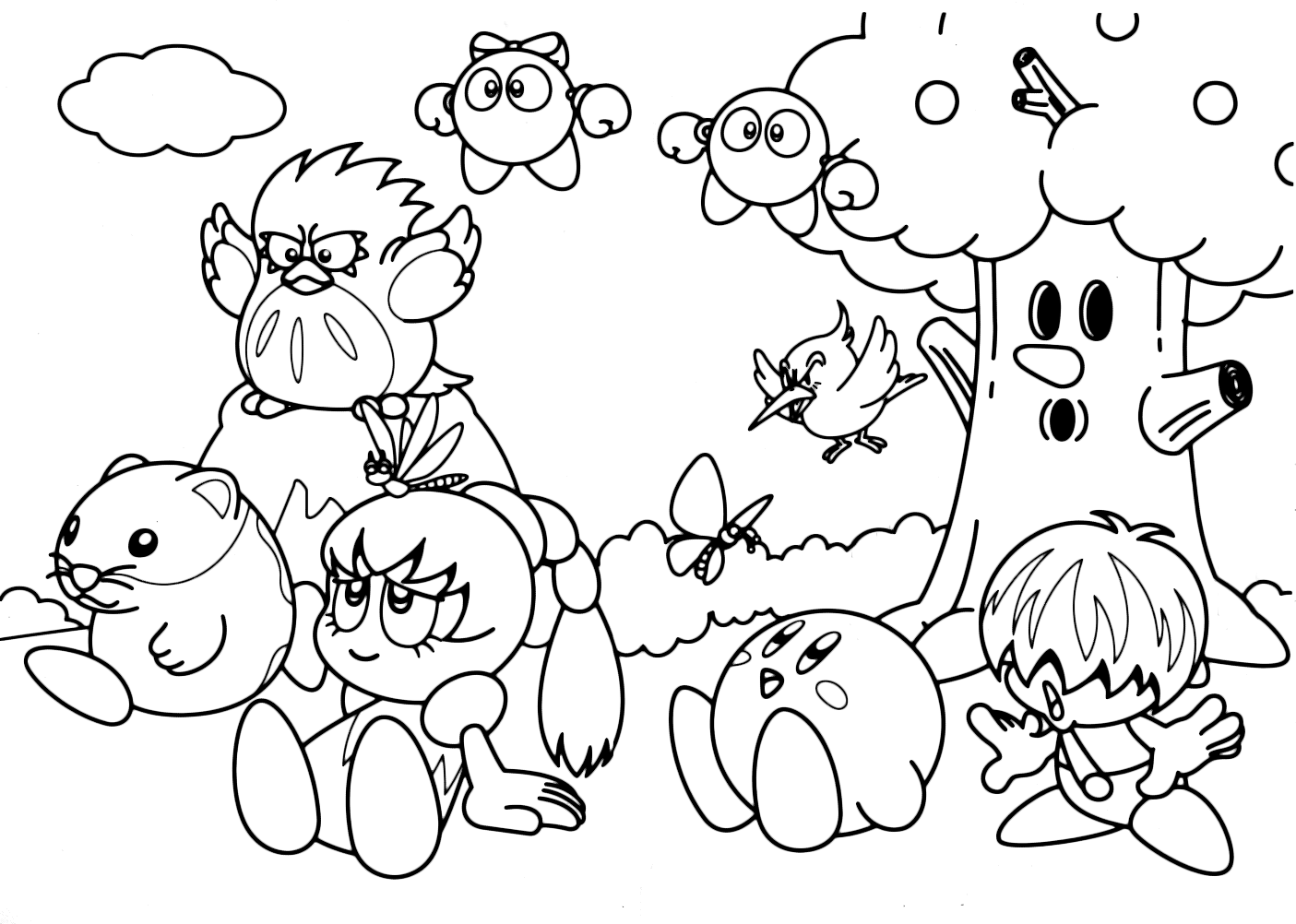 Kirby's Coloring Pages