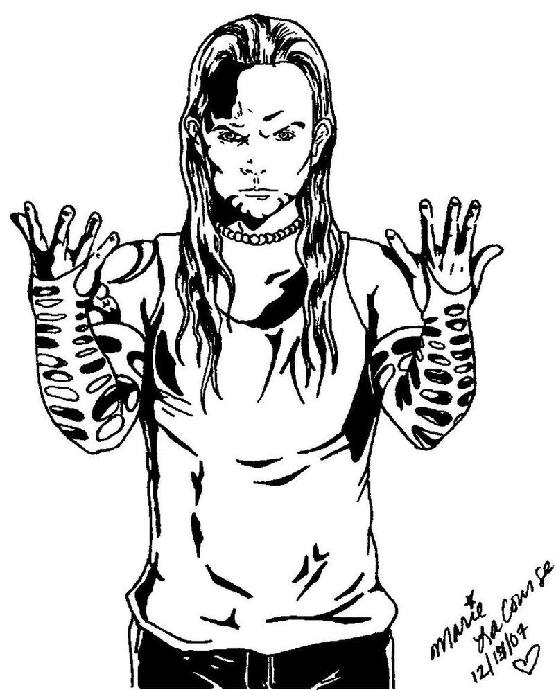 WWE Coloring Page Of Jeff Hardy